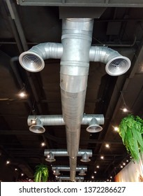 Air duct on the ceiling.