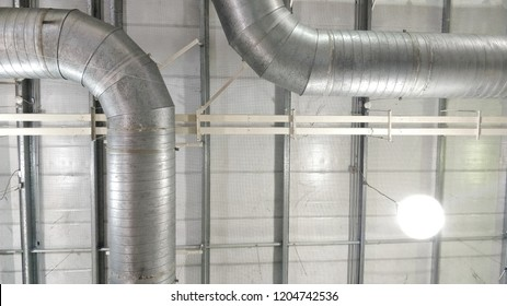 Air duct on a ceiling in industrial