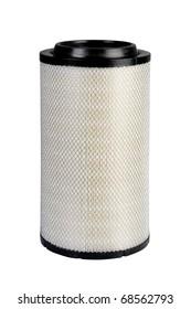 an air filter, auto spare part, clipping path