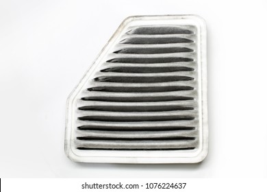 air filter on white background