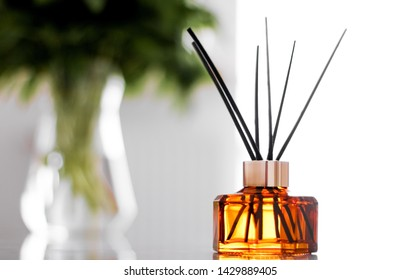 Air freshener, reed diffuser and aromatherapy concept - Home fragrance bottle, european luxury house decor and interior design details