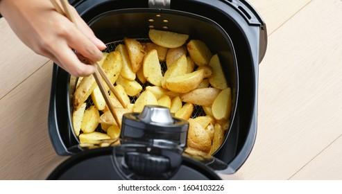 Air fryer homemade crispy potato