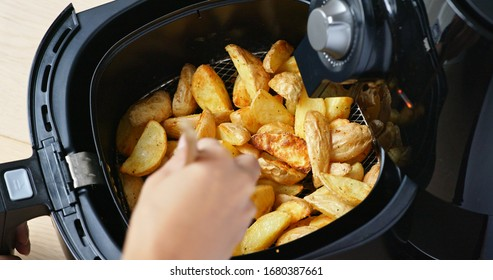 Air fryer homemade grilled potato