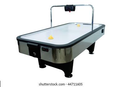 Air Hockey Table isolated
