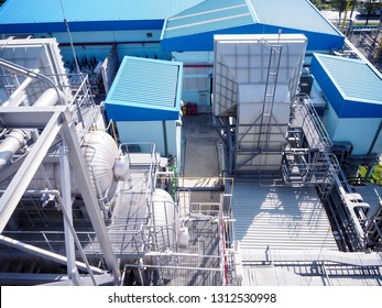 Air inlet filter of gas turbine generator systems in power plant.