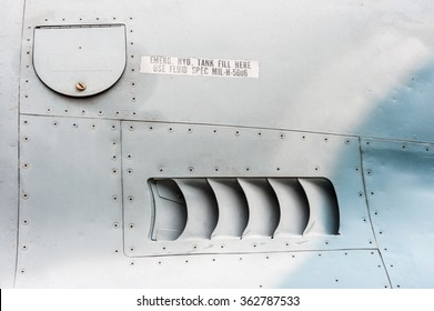 Air intake,detail on side of the air plane.
