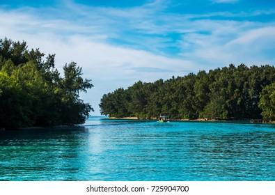 the Air Island of Kepulauan Seribu (Thousand islands) of Jakarta, Indonesia