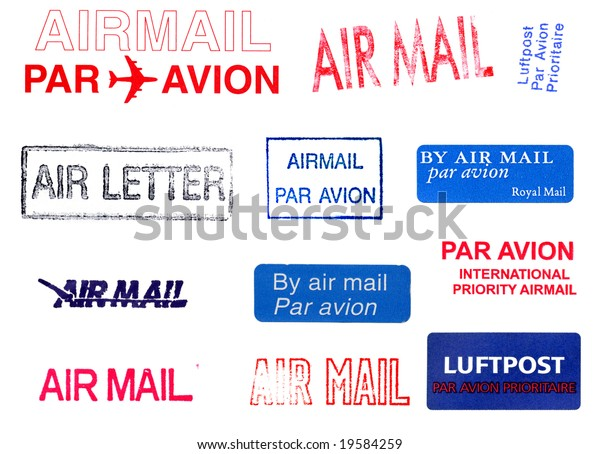 Air Mail Postage Markers Stock Photo (Edit Now) 19584259