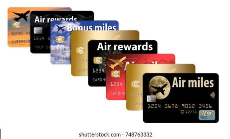 Air miles credit card. A credit card that provides air rewards and bonus miles.