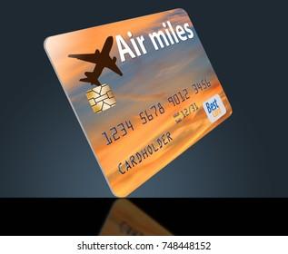 Air rewards bank card vector illustration stock vector 744534355 air miles air rewards credit card colourmoves