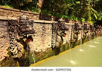 Air Panas Banjar hot natural spring in north Bali, Indonesia