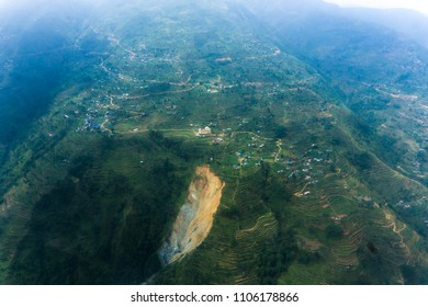 Air photography of Nepal landscape