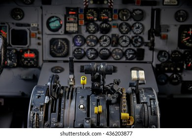 Air plan control stick in side pilot cockpit