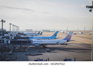 air plane in Chubu Centrair International Airport, Nagoya, 16 November 2018