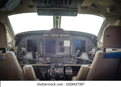 air plane in side control room captain