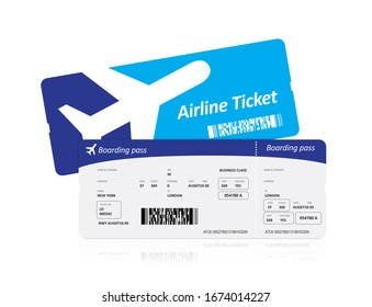 Air plane tickets on white