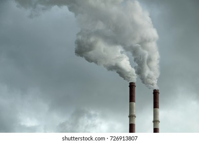 Air polluting, factory pipe, smoke, ecological theme