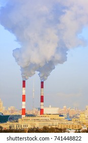 Air pollution  from industrial pipes