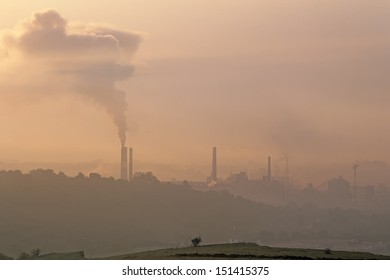 air pollution near Turda, Romania