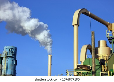 Air pollution from a smoke stack