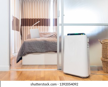 Air purifier in a bedroom, filter for clean room