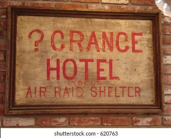 air raid sign