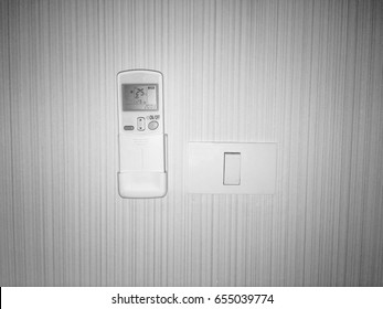 Air remote and switch light on the wall