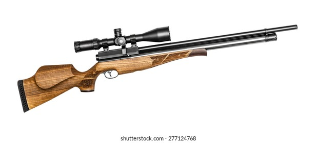 Air rifle isolated on the white