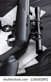 air rifle with optical sight