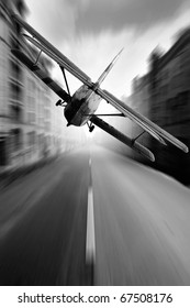 Air road in city