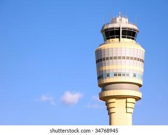 Air Traffic Control Tower at Atlanta Hartsfield-Jackson Airport.