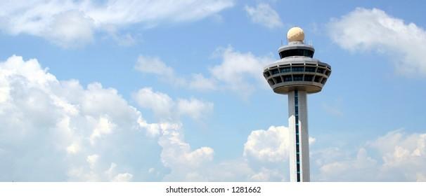air traffic control tower at changi airport