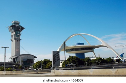 Air traffic control tower at Los Angeles International Airport