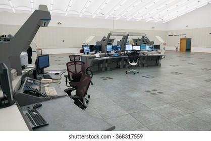 "Air traffic monitor and radar in the controll center room of Bulgarian Air Traffic Services Authority"" (BULATSA), Sofia, Bulgaria, November 12, 2015."