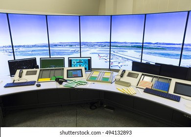 Air traffic services authority Authority control center room. No people.
