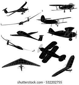 air transportation items set