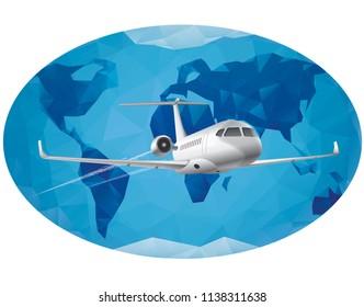 air travel around the world by jet plane