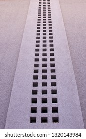 Air vent in concrete