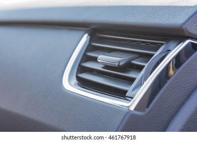 Air vents of a car.
