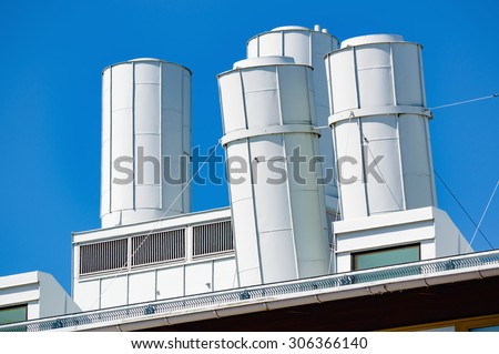 Air Vents On Top Industrial Building Stock Photo (Edit Now