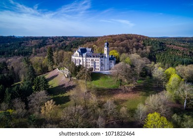 Air view of the Callenberg Palace in Coburg, Bavaria, Germany