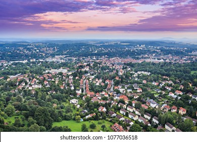 Air view of Coburg town, Bavaria, Germany
