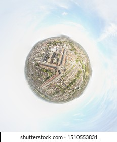 360° air view of TAUNTON Somerset England 21 of September of 2019