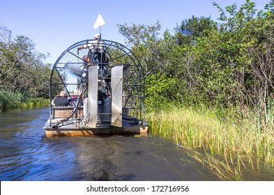 Airboat tour in the Everglades,Florida