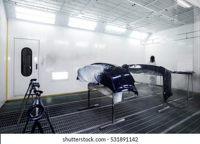 airbrush workshop in garage