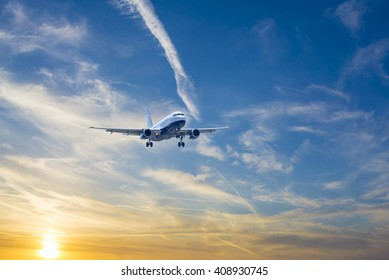 Airbus A-320 during landing.