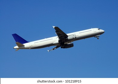 Airbus A321 aeroplane taking off.