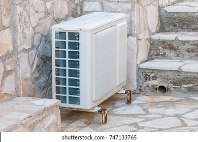 Airco system outside a house in Greece