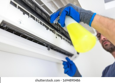 Aircondition service and maintenance, fixing AC unit and cleaning the filters.