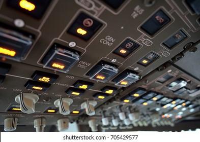 Aircraft cockpit overhead